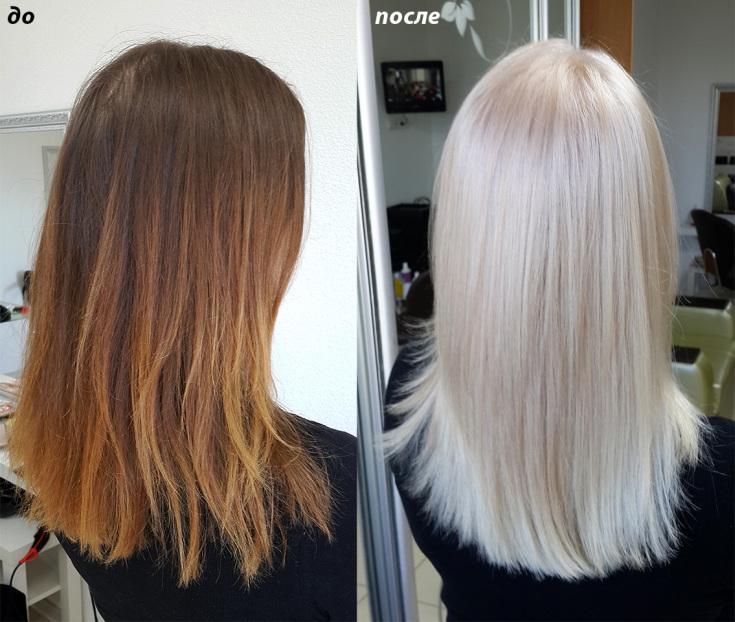 Выровнять цвет волос в домашних условиях