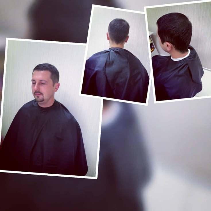 Мужская причёска полубокс