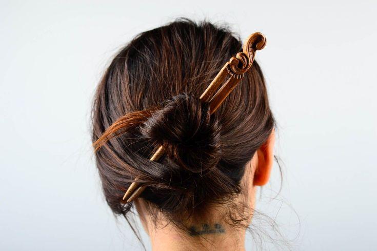 20 фото прически со шпильками на длинные волосы