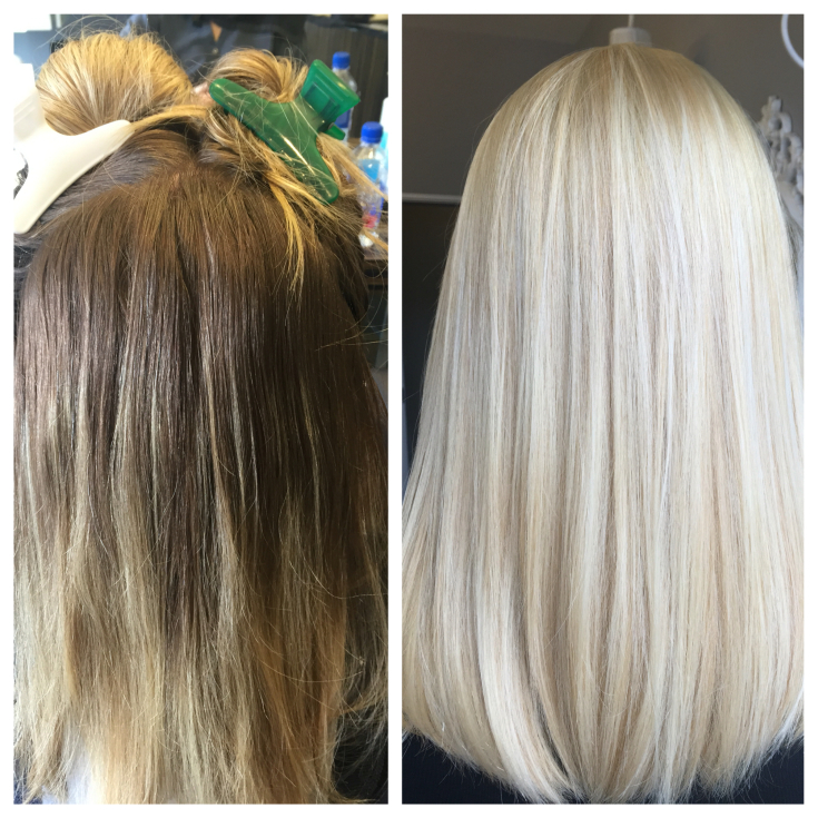 Как осветлить волосы на 2 тона в домашних условиях