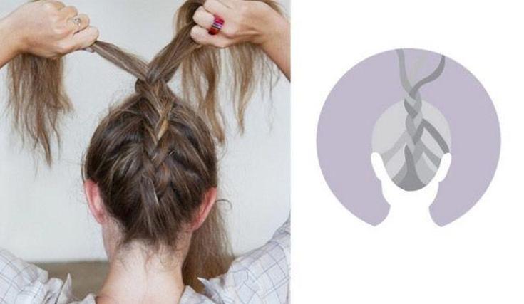 Низкий небрежный пучок на (короткие, длинные, средние) волосы