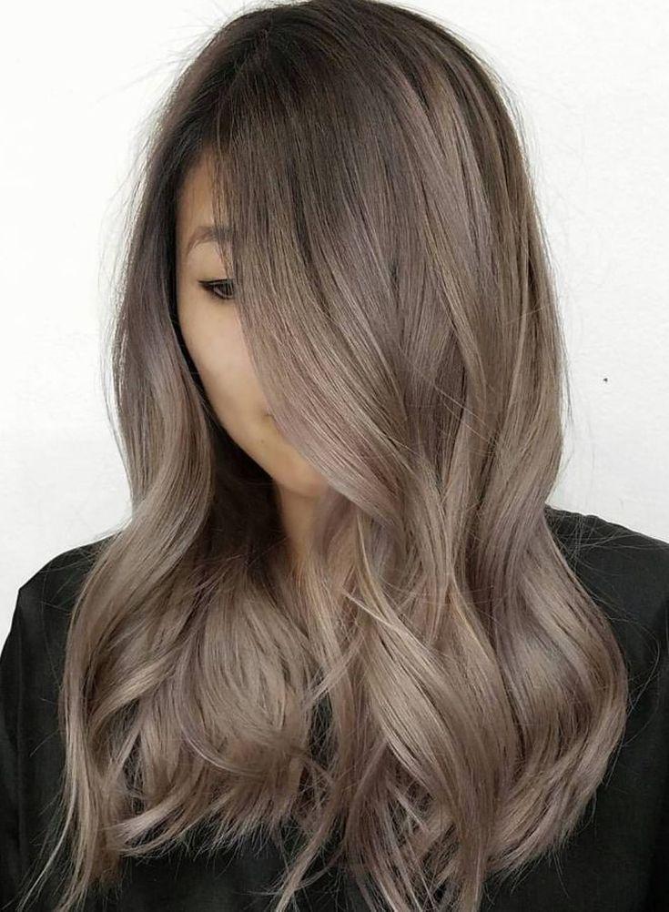 (+74 фото) Пепельно-коричневый цвет волос