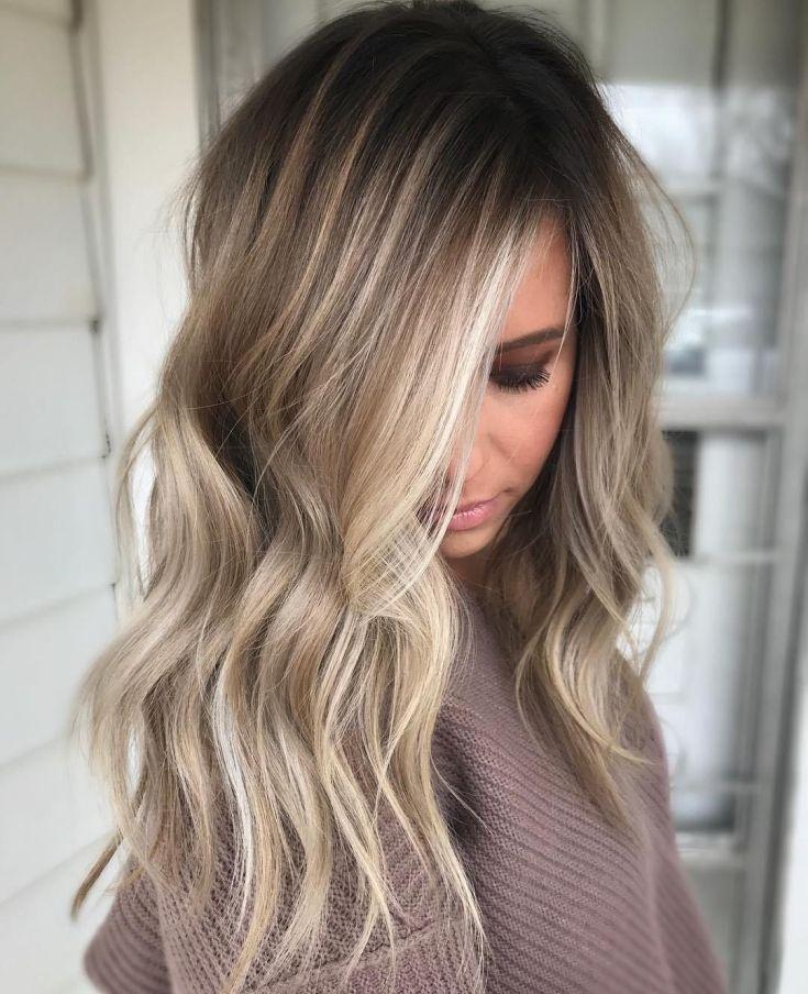 (+201 фото) Балаяж на русые волосы средней длины