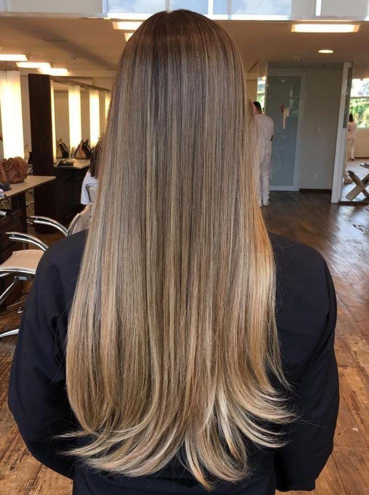 Балаяж на длинные русые волосы