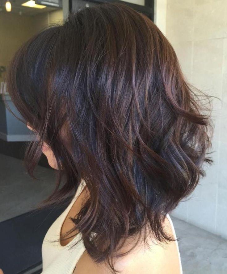 (+165 фото) Стрижка двойной каскад на темные волосы средней длины