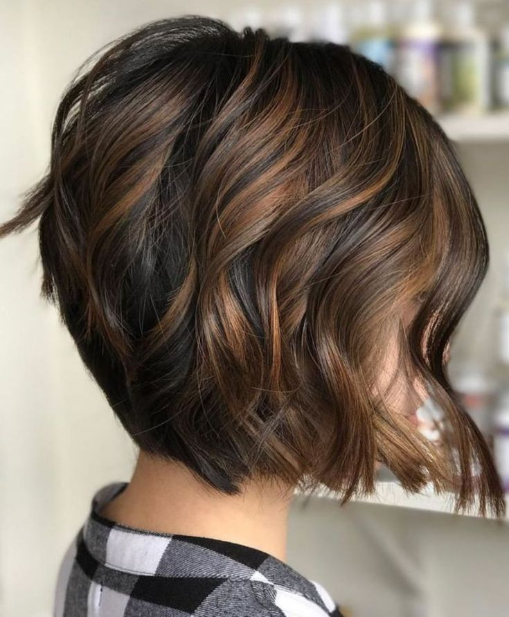 Балаяж на средние темные волосы 32 фото