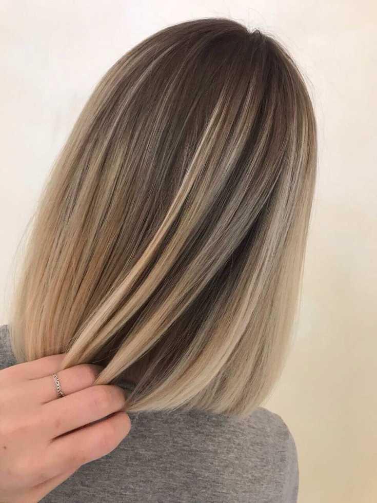 (+110 фото) Балаяж на прямые волосы