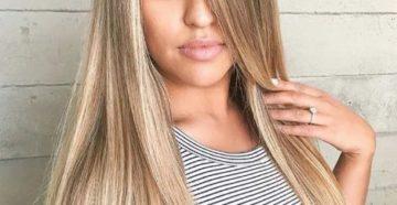 балаяж на прямые волосы