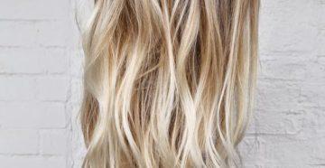 брондирование на длинные волосы