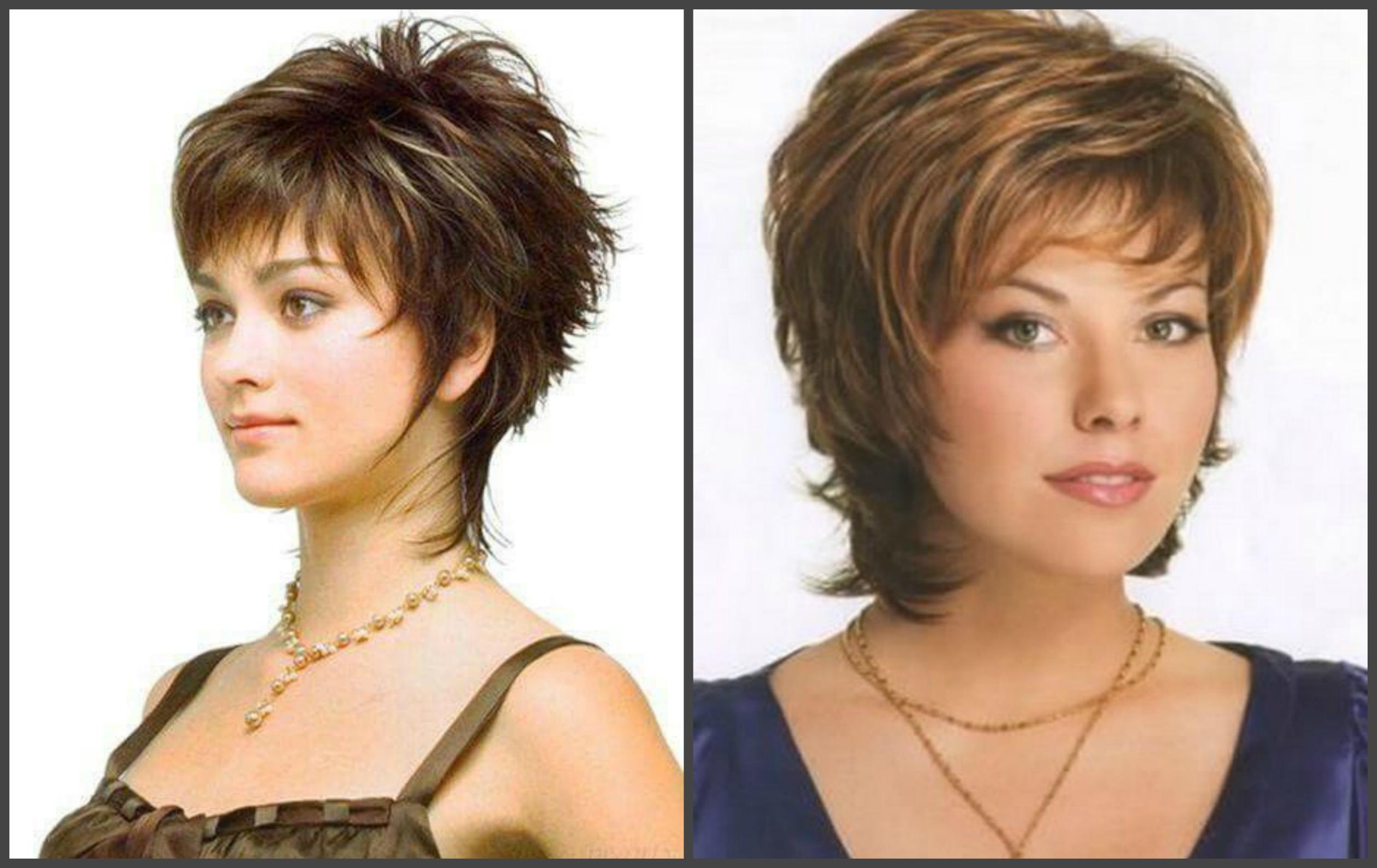 Стрижка каскад на короткие волосы для полных женщин