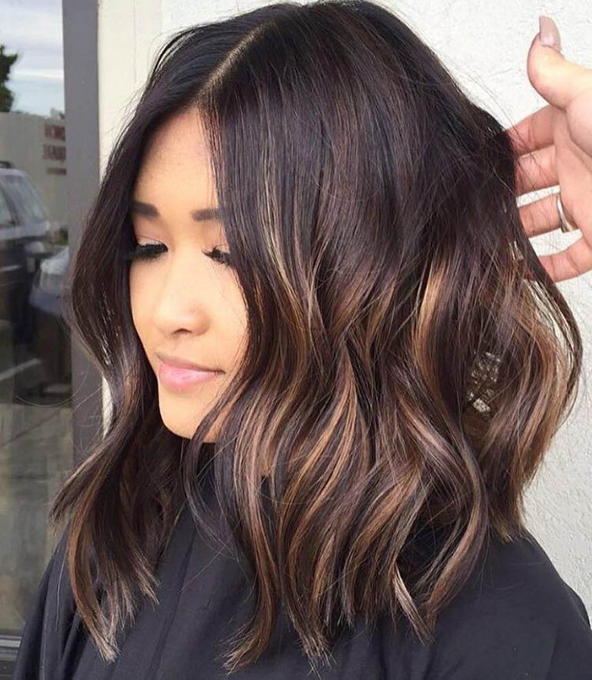калифорнийское мелирование на темные волосы короткие