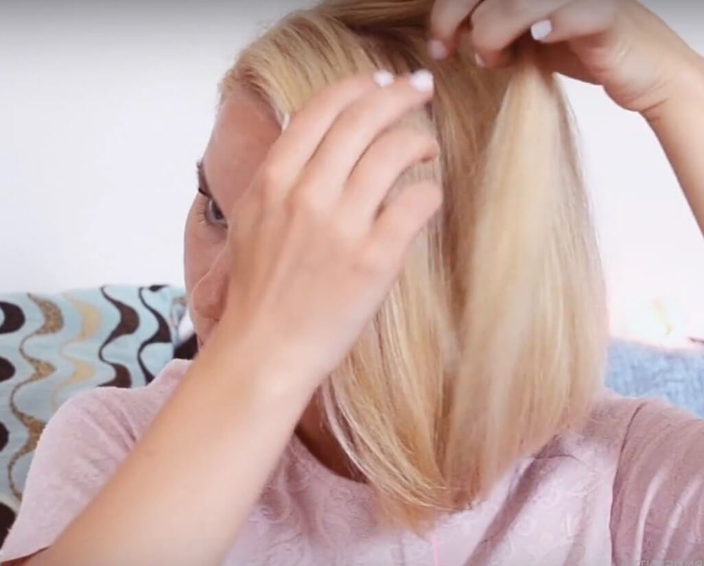 light hairstyles to herself for 5 minutes to school on short hair