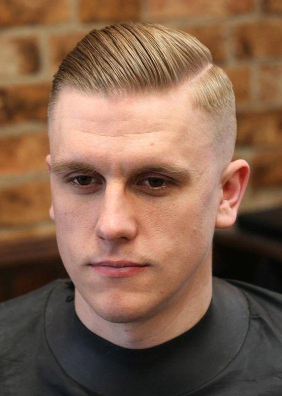 Side comb haircut