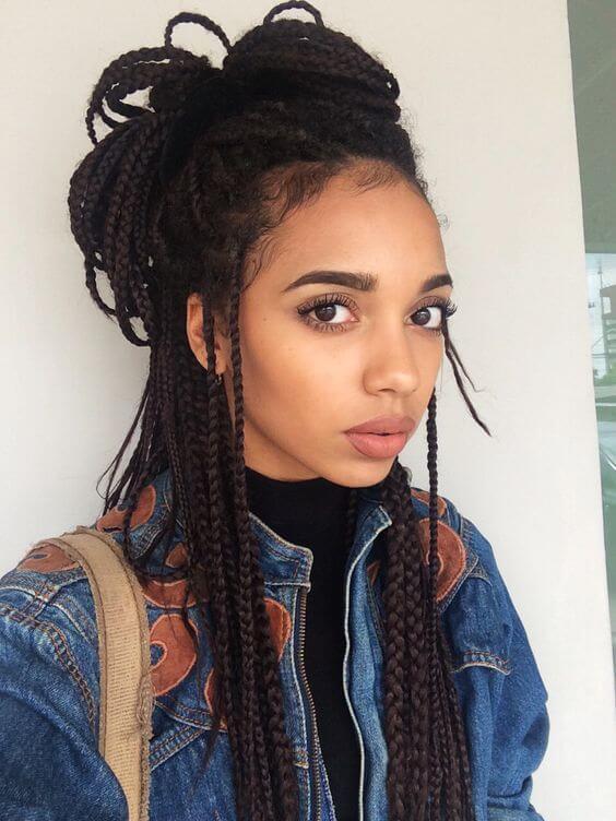 Прически из афро кос