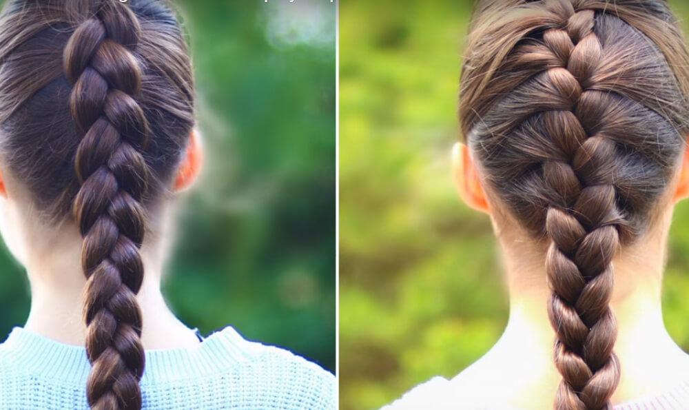 Французские косы простая и обратная
