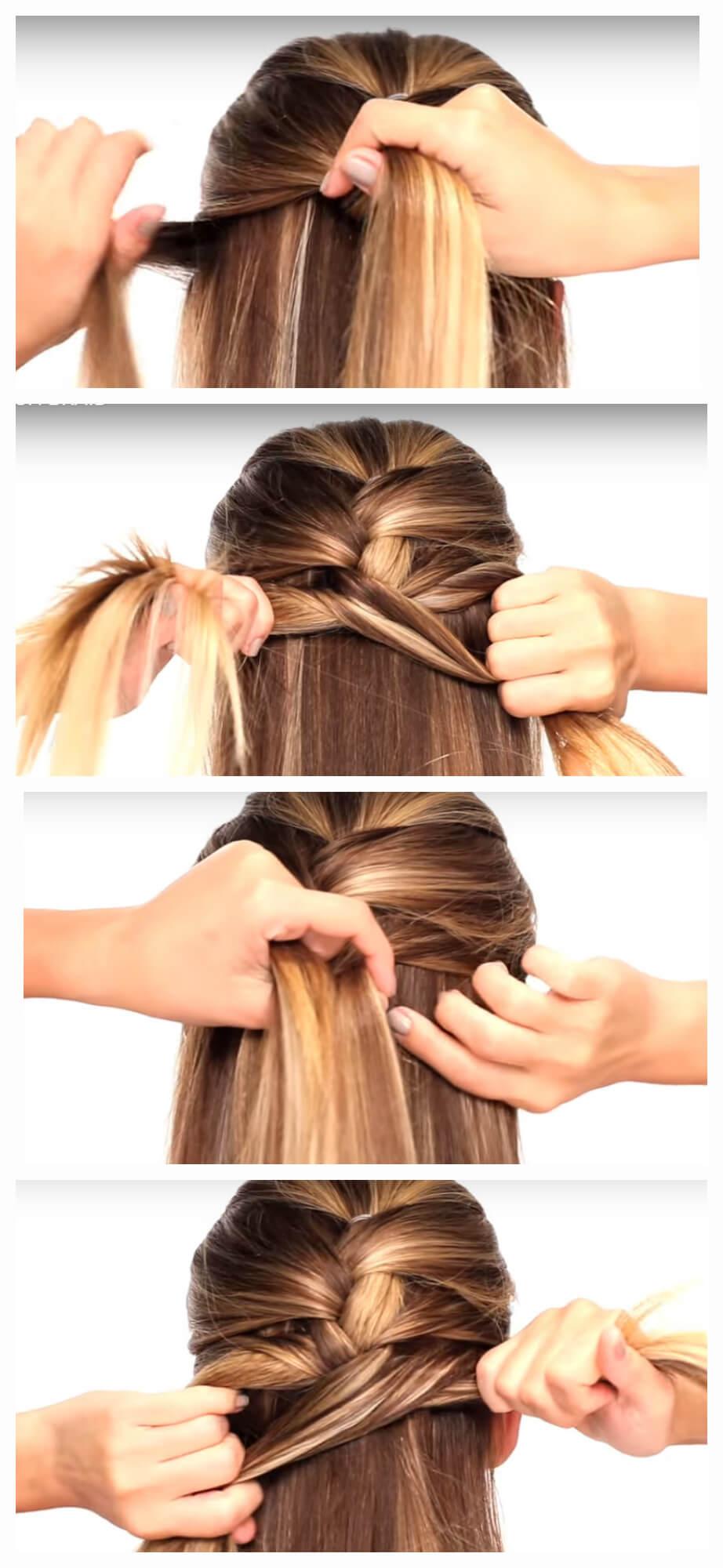 Обычная французская коса