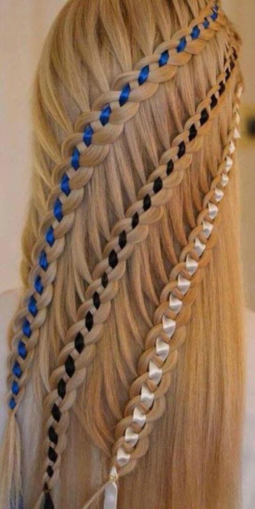 Интересные идеи плетений с лентами
