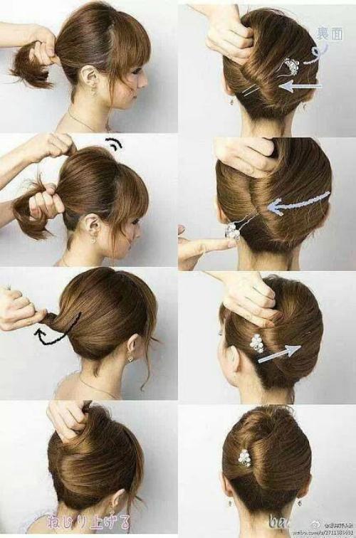Как сделать ракушку на средних волос 394