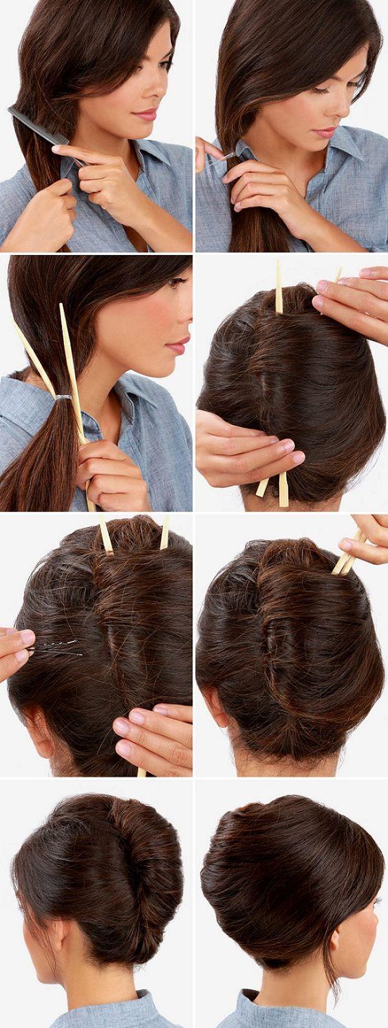 Как сделать ракушку на средних волос 703