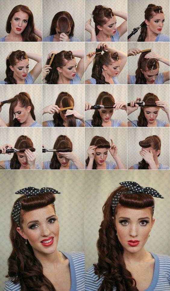 Как сделать причёску в стиле ретро инструкция