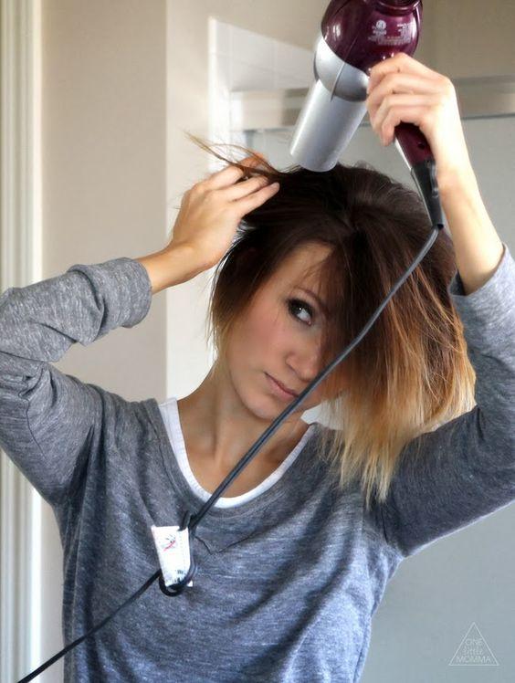 Укладка феном коротких волос самой себе