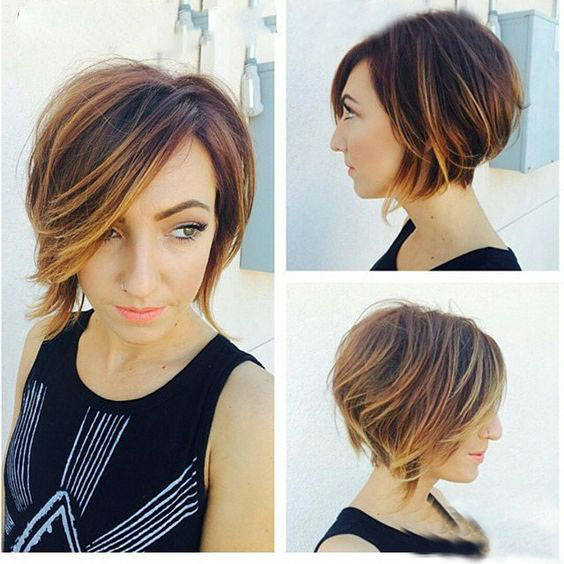 растяжка цвета на коротких волосах фото
