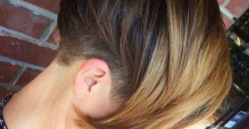 шатуш на темные и короткие волосы