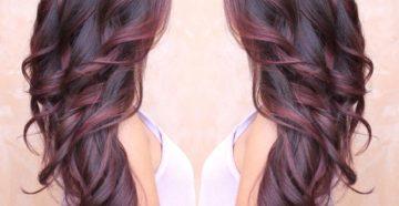 шатуш на темные длинные волосы