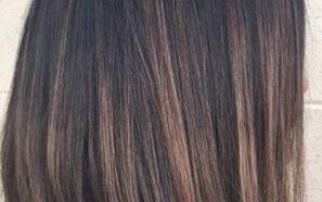 шатуш на тёмные волосы средней длины