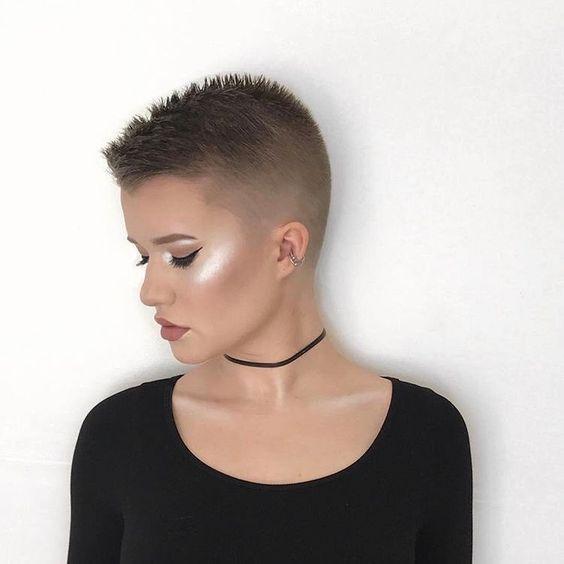 причёска ежик женская фото