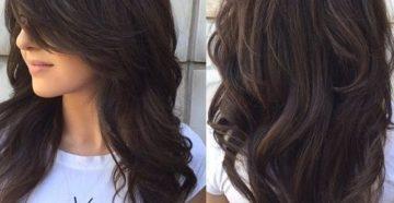 стрижка каскад на длинные волосы вид сзади