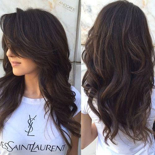 Стрижки на длинные темные волосы
