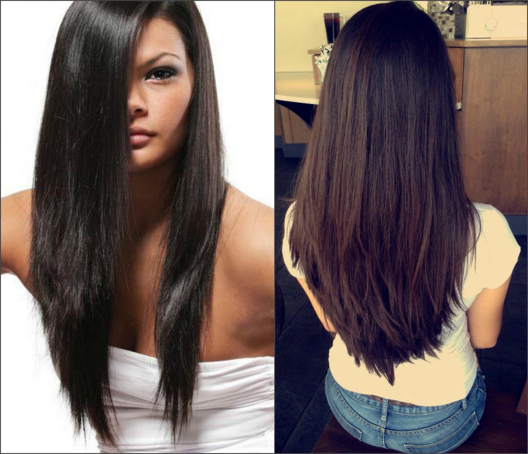 Обаятельная стрижка лесенка на длинные волосы 32