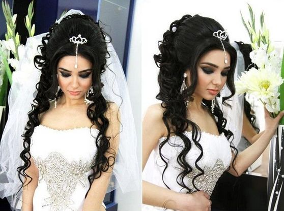 Wedding hairstyles with diadem for long hair