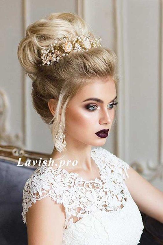 ec7db452438227f Свадебные прически с диадемой на длинные волосы