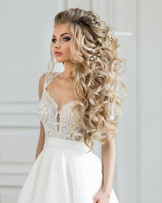 Свадебные причёски локоны