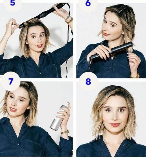 2018 Укладки на короткие волосы в домашних условиях (48 фото)