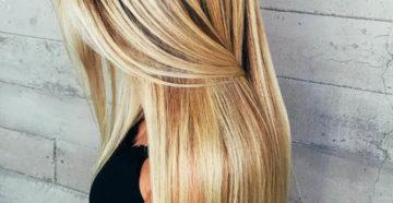 пример калифорнийского мелирования на светлые волосы