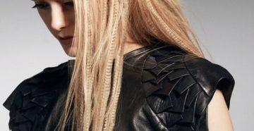 прическа гофре на длинные волосы