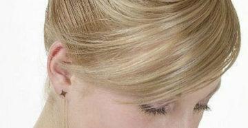 прическа ракушка на длинные светлые волосы с открытой шеей