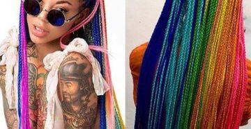 плетение кос с канеколоном
