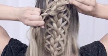 плетение ажурной косы