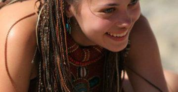 крутые африканские косички с нитками