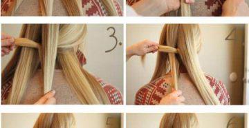 Схема плетения косы 5 прядей