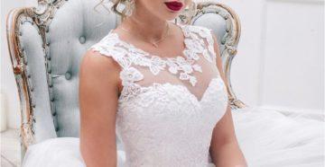 красивая свадебная прическа с челкой