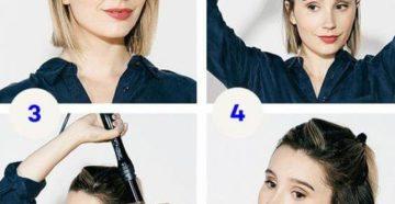 укладки на короткие волосы