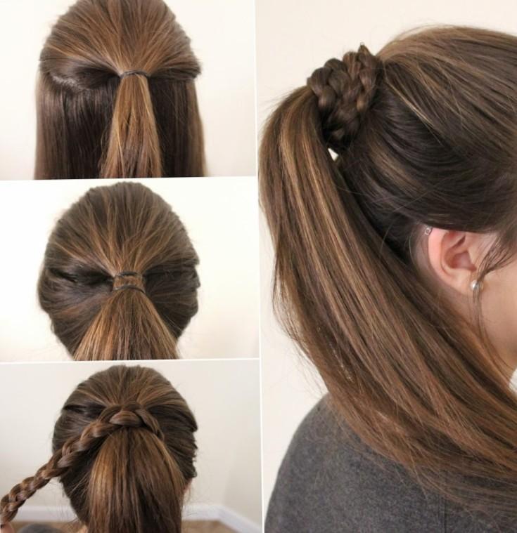 Легкие прически самой себе за 5 минут на средние волосы в школу