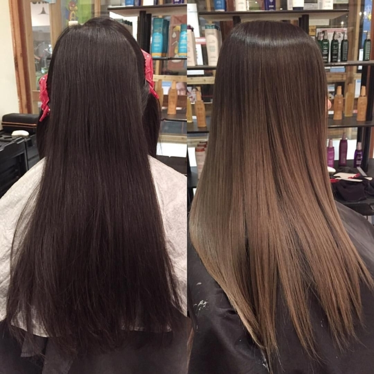 (+120 фото) Как выйти из черного цвета волос