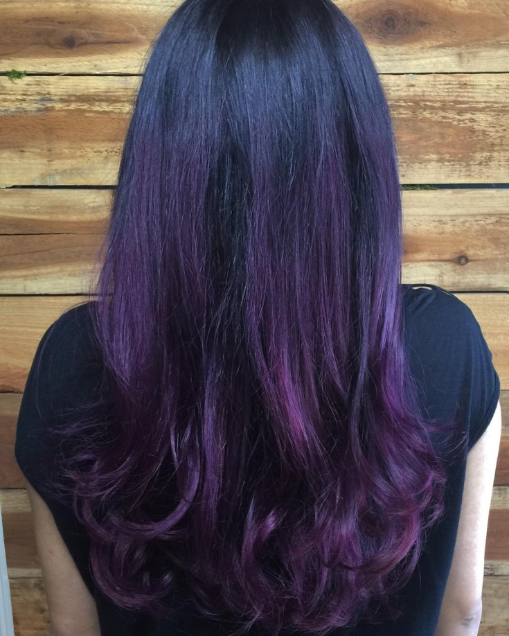 называется коттеджным фиолетовые волосы фото на концах как