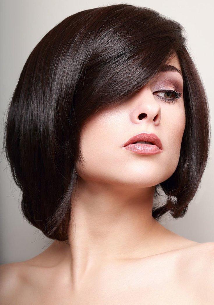 Цвет волос черный каре